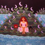 1991 Mujer con lunas
