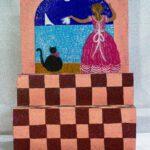 Mujer en el porche